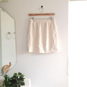 St John Basics Cream Knit Skirt Size 4
